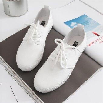 BIGCAT New breathable white shoes wild Korean white sneakers forwomen - intl - 5