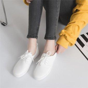 BIGCAT New breathable white shoes wild Korean white sneakers forwomen - intl - 4