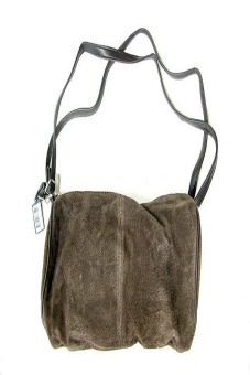 Bijoux Terner Suede Brown Handbag (Brown)