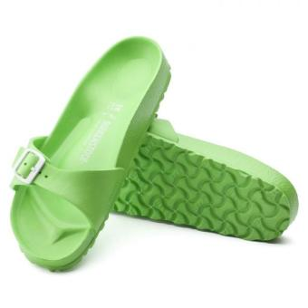 Birkenstock Madrid EVA Narrow Fit Birko-Flor Flat Slippers (NeonGreen) - 3