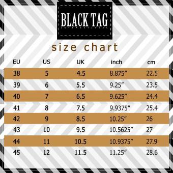 Black Tag Brando 10D4 Low-Cut Formal Shoes for Men (Black) - 5