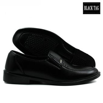 Black Tag Brando 10D4 Low-Cut Formal Shoes for Men (Black) - 4