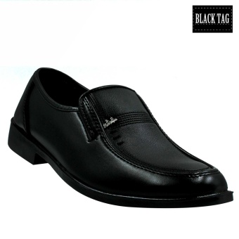 Black Tag Brando 10D4 Low-Cut Formal Shoes for Men (Black) - 2