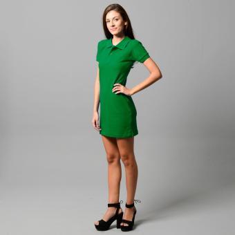 BLKSHP Polo Shirt Mini Dress (FernGreen) - 5