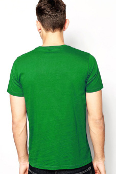 BLKSHP SLIM-FIT 100% Cotton T-Shirt (Fern Green) - picture 2