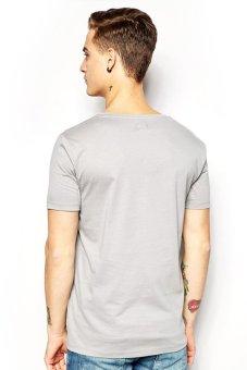 BLKSHP SLIM-FIT 100% Cotton T-Shirt (Light Grey) - picture 2