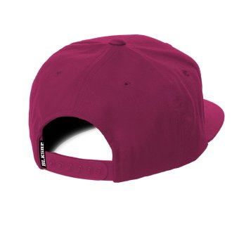 BLKSHP Solid Blank Plain Snapback (Heliconia) - picture 2