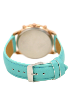 Blue lans Faux Leather Strap Watch (Turquoise) - picture 2