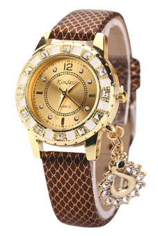 Bluelans Brown Peacock Rhinestone Watch - picture 2