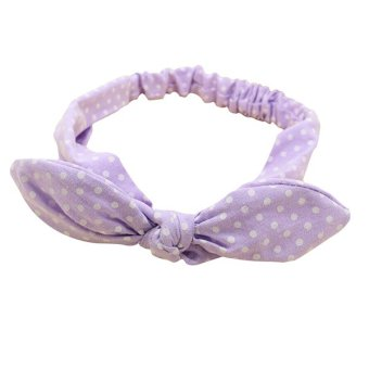 Bluelans® Girls Baby Toddler Puprle & Dot Rabbit Ear Headband Hair Band Bow Headwear