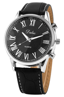 BlueLans Synthetic Black Leather Strap Watch - picture 2