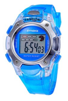 Bluelans Unisex Waterproof Blue PVC Watch