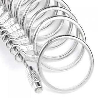 BolehDeals Finger Ring Sizer Gauge Jeweler Steel Sizing Tool US 0-13 - 4