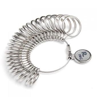 BolehDeals Finger Ring Sizer Gauge Jeweler Steel Sizing Tool US 0-13 - 2