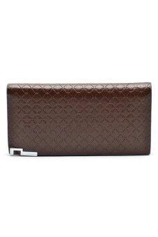 Borenyas BY-004-3 Long Wallet Clutch (Brown)