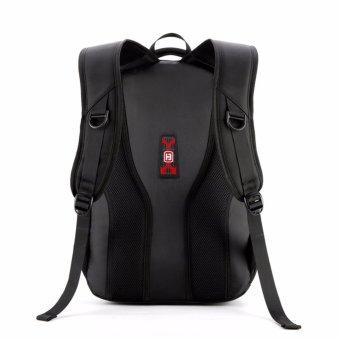 Boshikang Men Backpack Large Capacity Bagpack for Boys Daypack Laptop Back Pack Waterproof Oxford Black Student School Bag(Black) - intl - 3