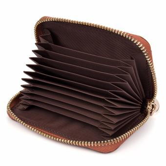 BOSTANTEN Genuine Leather Unisex Card Holder Wallets High QualityFemale Credit Card Holders Women Pillow Mini Card holder Purse -intl - 4