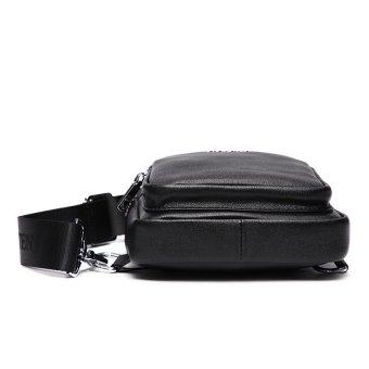 Bostanten Men's Genuine Cowhide Leather Chest Sling Bag Cross-body Newest Shoulder Bag - 5