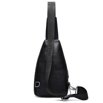 Bostanten Men's Genuine Cowhide Leather Chest Sling Bag Cross-body Newest Shoulder Bag - 2
