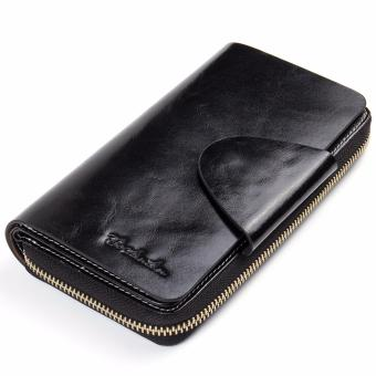 BOSTANTEN Real Genuine Leather Women Wallets Brand Designer High Quality Cell phone Card Holder Long Lady Wallet Purse Clutch - intl
