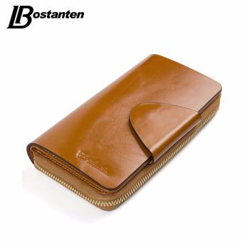 BOSTANTEN Real Genuine Leather Women Wallets Brand Designer HighQuality Cell phone Card Holder Long Lady Wallet Purse Clutch - intl