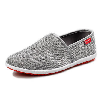 Breathable Linen Summer Fashion Sports Shoes - Grey
