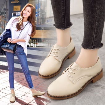 British lace flat oxford shoes Shoes (Off-white color) Price Philippines