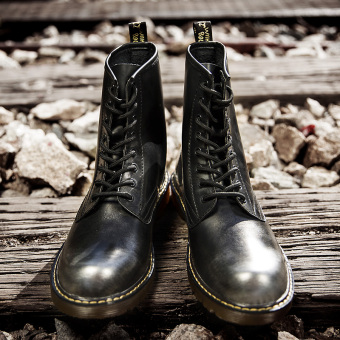 British style patent leather boots tide boots Dr. Martens (Black) Price Philippines