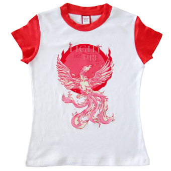 Bug & Kelly Light My Fire Girls Shirt (White/Red)