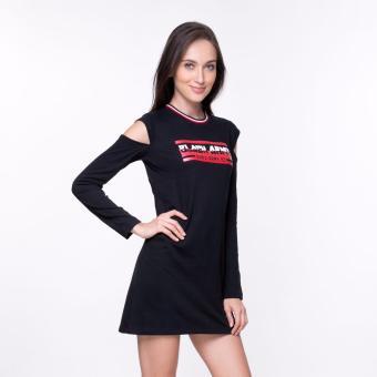 Bum Ladies Black Army Dress (Black) - 2