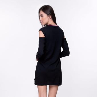 Bum Ladies Black Army Dress (Black) - 4