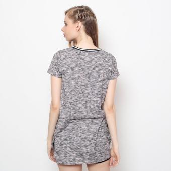 Bum Ladies Dresses With Slit Tee (Pink) - 4
