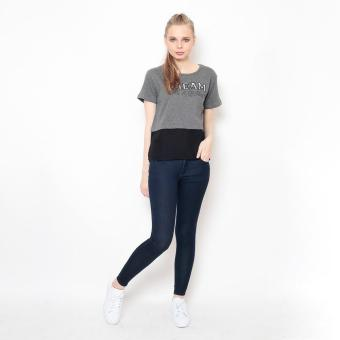 Bum Ladies Knits With Woven Combi (Gray Black)