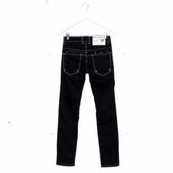 Bum Men's Modified Basic Denim Pants (Black) - 2