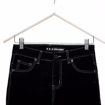 Bum Men's Modified Basic Denim Pants (Black) - 3