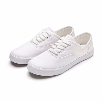 Buy 1 Take 1 Canvas Sneakers for Women - Black White - 4