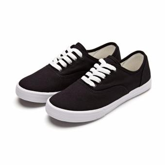 Buy 1 Take 1 Canvas Sneakers for Women - Black White - 5