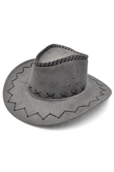 Buytra Unisex Hat Cowboy Knight Western Visor (Gray)
