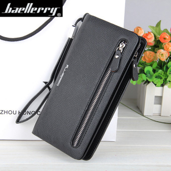 BYT Baellery Long Women Leather Zipper Wallet 201502 ( Black ) -Intl