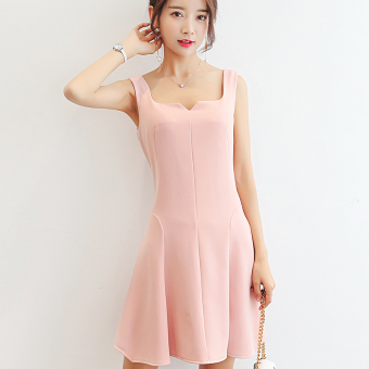 ... Plus Sized Elegant Short Sleeved Source · OEM Korean Style Knitted. Source · Caidaifei Korean-style solid Slim fit sleeveless casual dress (Pink) (Pink)