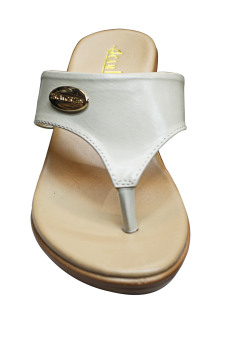 Camino White Strap Heels Sandals