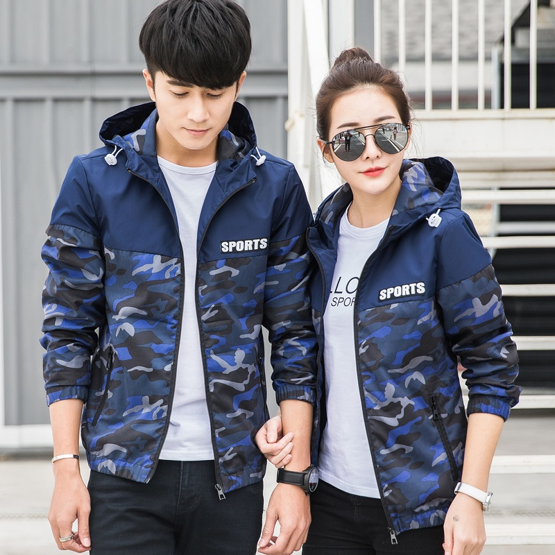 ... camouflage coat couples dress fashion handsome men and women students personality all-match Unisex jacket ...