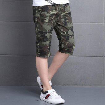 Camouflage Pants For Boys Clothing Children Shorts Summer ArmyTrousers Kids Shorts 2017 Brand Teenages Clothes 4 6 8 10 12 14Years - intl - 5
