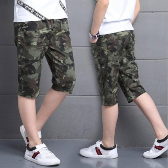 Camouflage Pants For Boys Clothing Children Shorts Summer ArmyTrousers Kids Shorts 2017 Brand Teenages Clothes 4 6 8 10 12 14Years - intl - 4