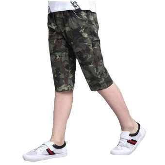 Camouflage Pants For Boys Clothing Children Shorts Summer ArmyTrousers Kids Shorts 2017 Brand Teenages Clothes 4 6 8 10 12 14Years - intl - 2