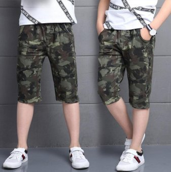 Camouflage Pants For Boys Clothing Children Shorts Summer ArmyTrousers Kids Shorts 2017 Brand Teenages Clothes 4 6 8 10 12 14Years - intl - 3