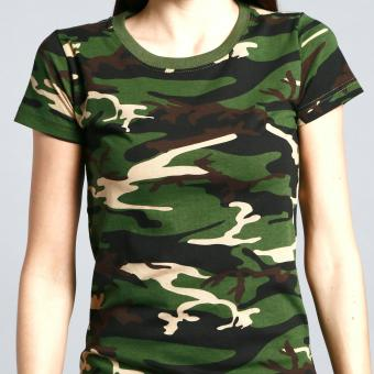 Camouflage Tee for Women (Green) - 4