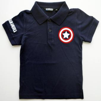 C&C PRINT Captain America movie inspired Polo Shirt Kids (NavyBlue)
