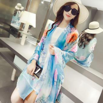 Candy Online Large Section Chiffon Summer Shawl Scarf Thin SectionSunscreen Scarf Air Conditioning Shawl Scarf #13