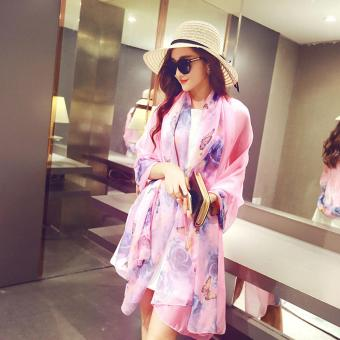Candy Online Large Section Chiffon Summer Shawl Scarf Thin SectionSunscreen Scarf Air Conditioning Shawl Scarf #4